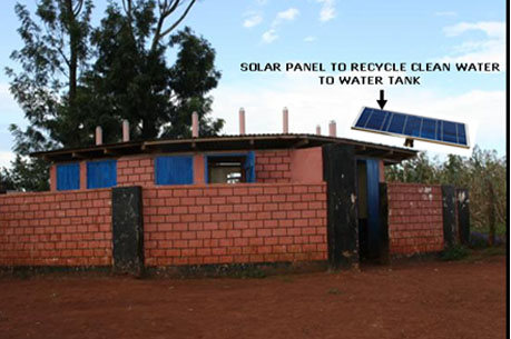 Institutional Bio-toliets with Solar Panel to enable recycling of clean water