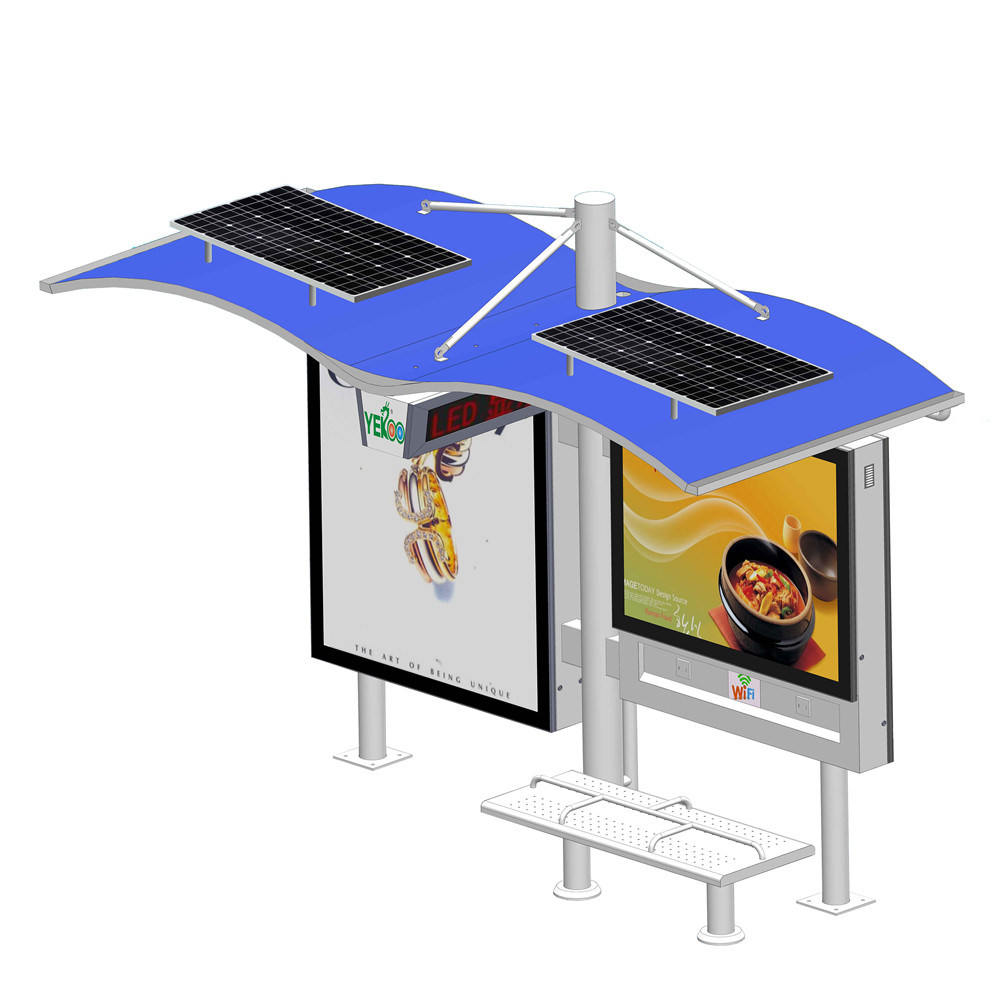 OUTDOOR: Solar powered energy advertising lighting systems