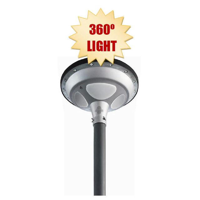 STREET 360 DEGREES ALL in  1: InstaLite 360D LED SOLAR SMART STREET LAMP – 1700 lumens