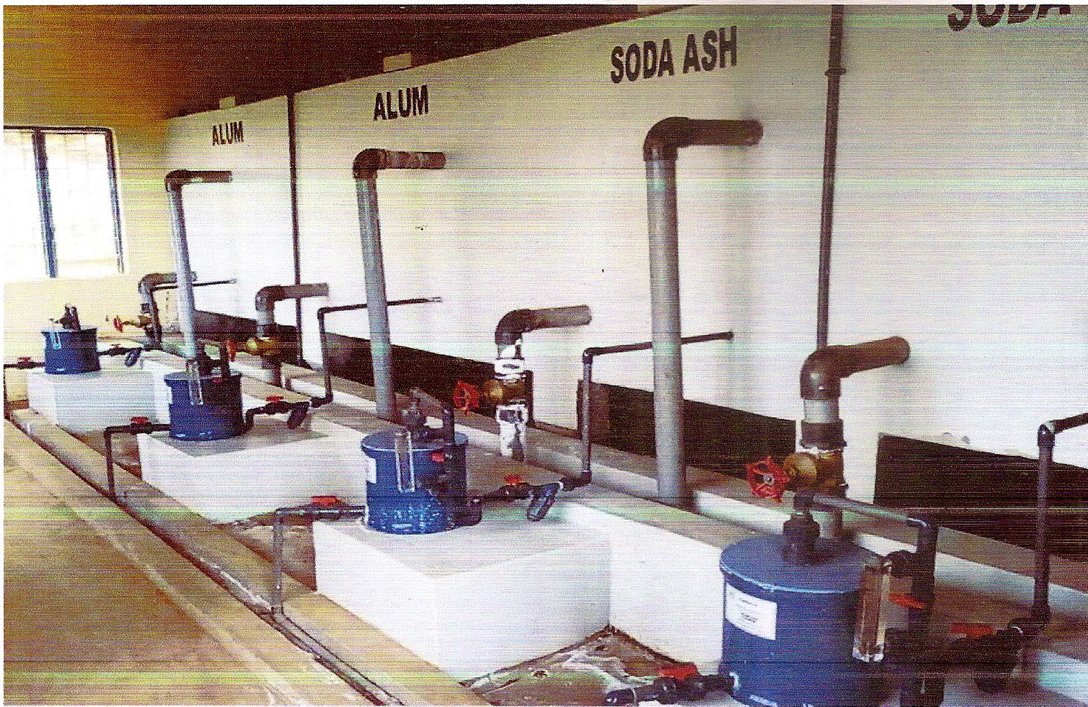 Chemical Gravity Dosers Installed at a Water Treatment Works